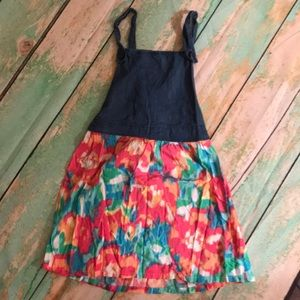 Children's Place dress with denim top and floral